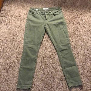 Lucky Lolita cropped sage green jeans